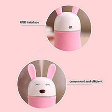Load image into Gallery viewer, 361 Lovely Rabbit Air Humidifier USB Aroma Diffuse with LED Lamp Mini Ultrasonic Cool Mist Maker Fugger for Office Car Air Purifier