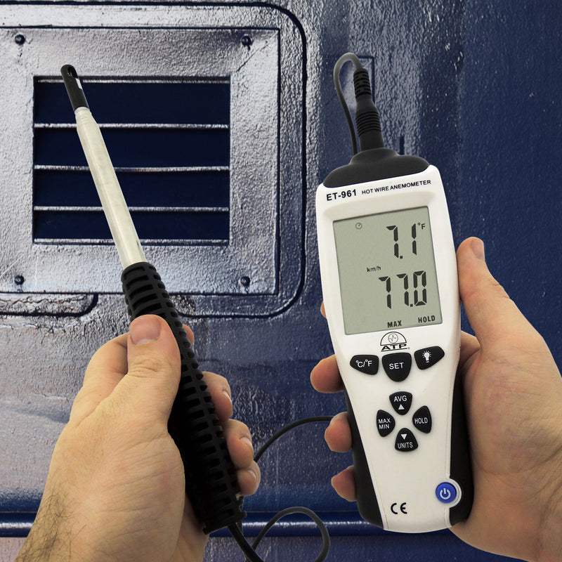ET-961 Hot-wire Thermo-anemometer in hand