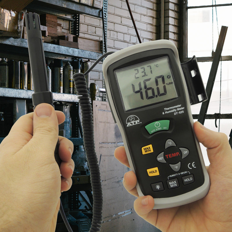 HTD-625 Thermo-Hygrometer in Hand