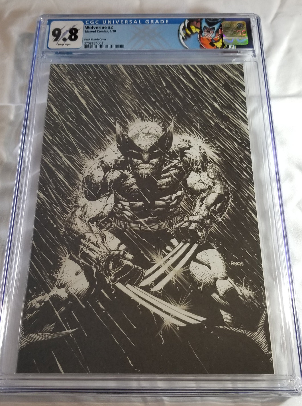 CGC 9.8 WOLVERINE #2 (1:100 BLACK AND WHITE FINCH VIRGIN COVER)