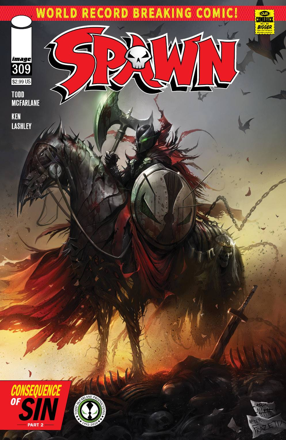 SPAWN #309 CVR A MATTINA (MR)