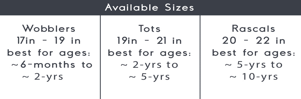 sizing for Wild & Free kid's hats