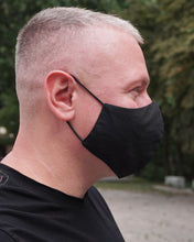 Load image into Gallery viewer, 4x Layers Protective Reusable BuyMask mask - Black+Black