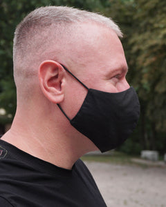 4x Layers Protective Reusable BuyMask mask - Black+Black