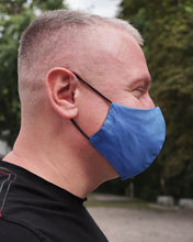 Load image into Gallery viewer, 4x Layers Protective Reusable BuyMask mask - Black+Blue
