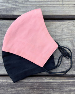 4x Layers Protective Reusable BuyMask mask - Pink+Black