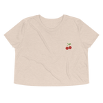 Load image into Gallery viewer, Organic Crop Top - Cherry Bordado