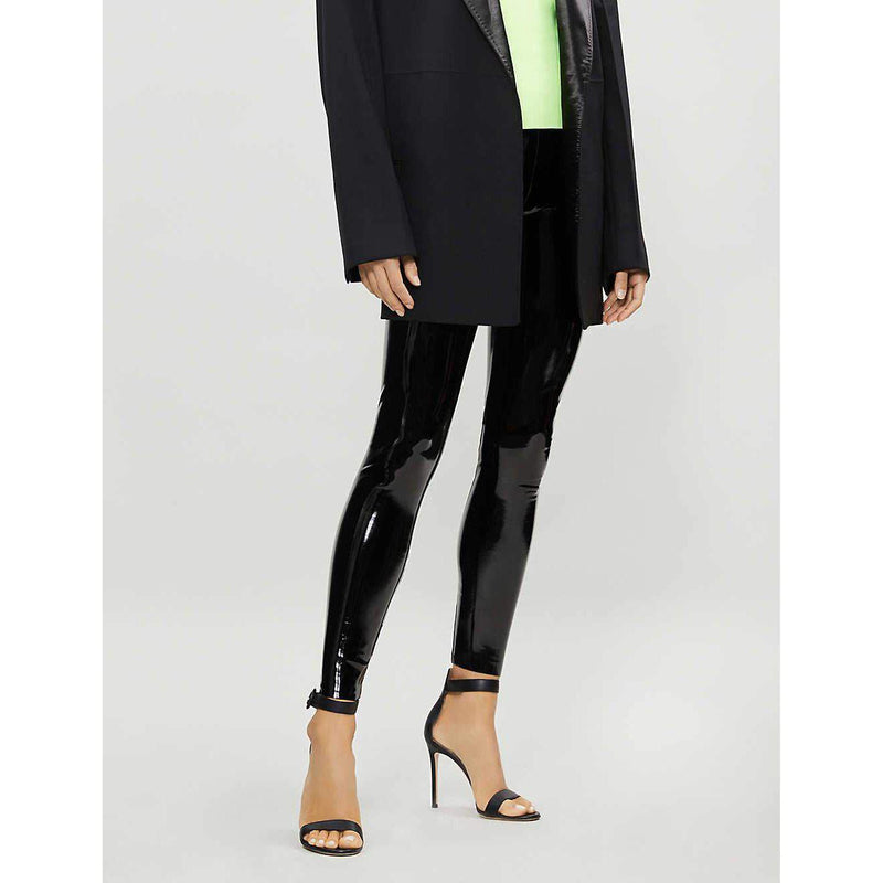 Patent Faux-Leather Leggings