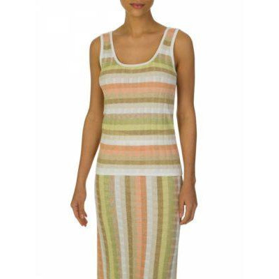RUTH EROTOKRITOU PEACH/GREEN STRIPE TOP
