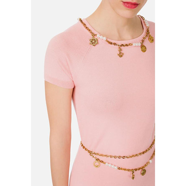 Dress with chains and charms