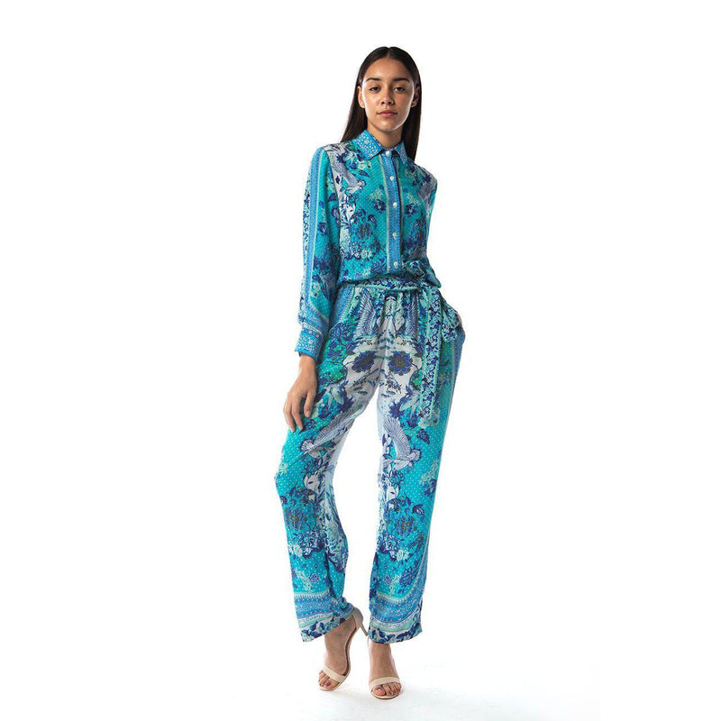 Catalina Azuro Print Slouch Trousers