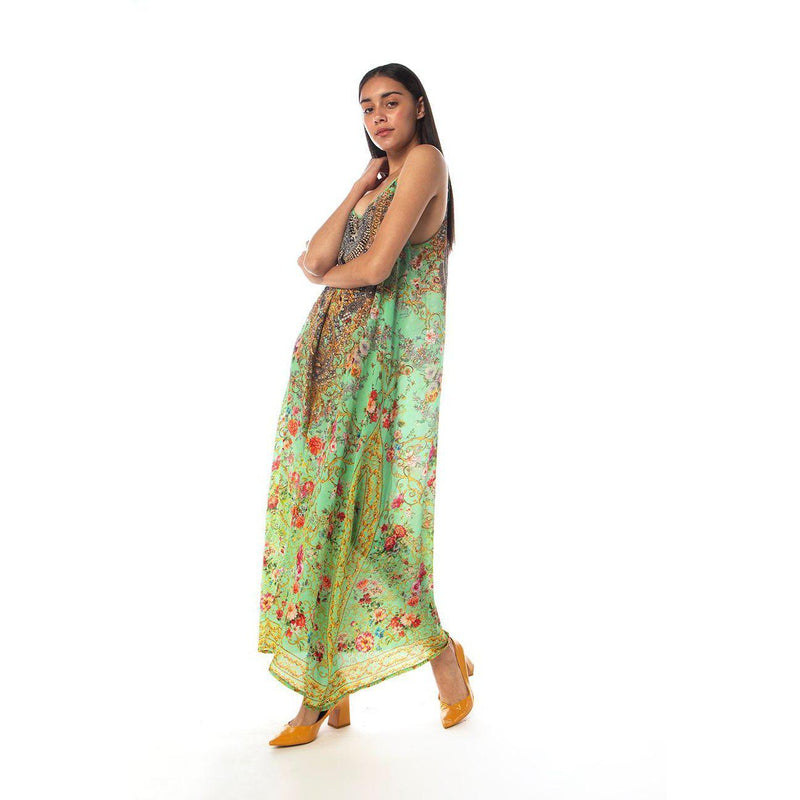 Chartreuse Strap Maxi Dress