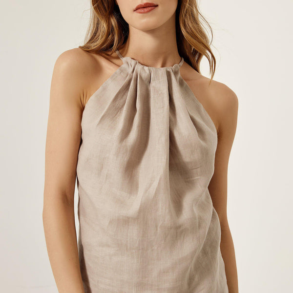 Halter Neck Linen Top