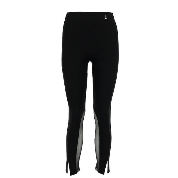 Black Trousers With Mesh Detail