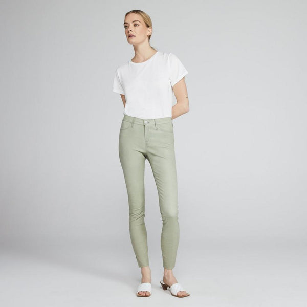 Mid-Rise Skinny Pant In Leather