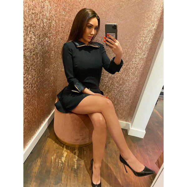 Black Mini Skirt Dress