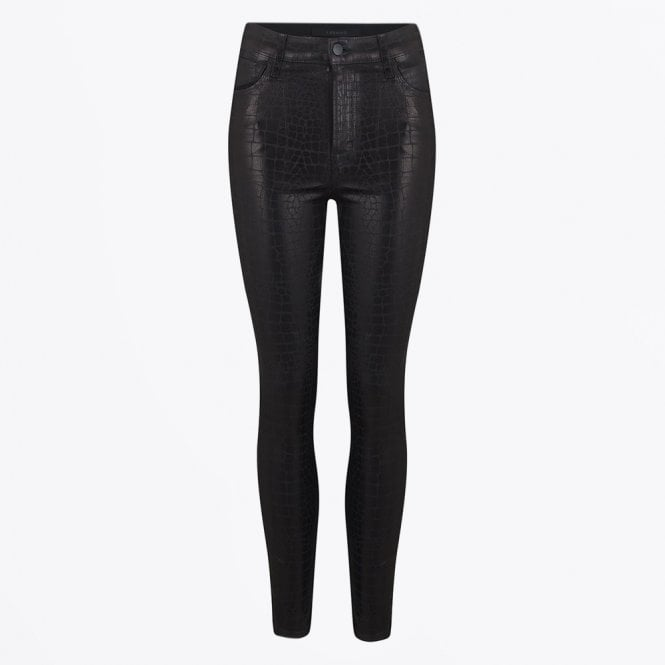 Leenah High Rise Skinny Ankle Coated Jeans