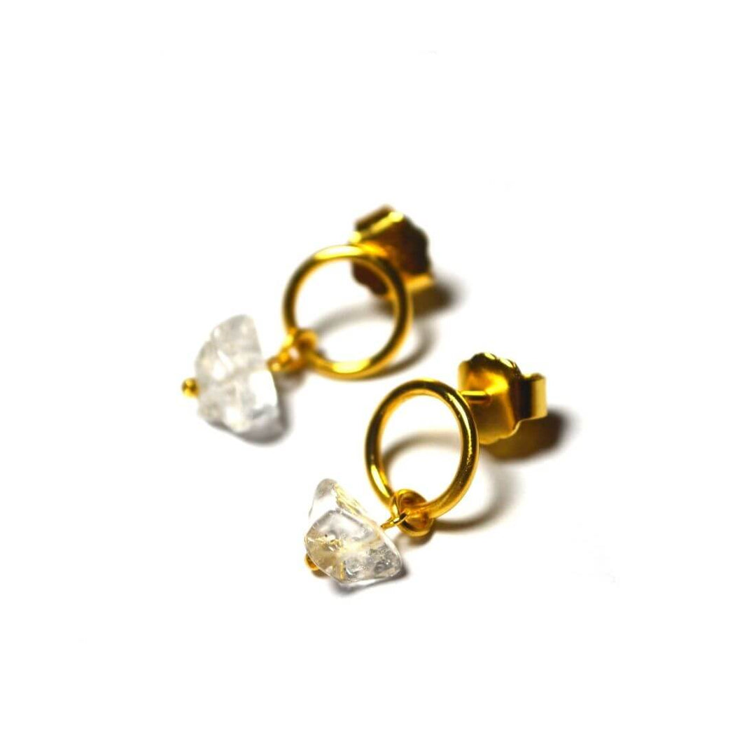 Earrings | Flor de Lis | recycled 925 silver with 24K gold plating