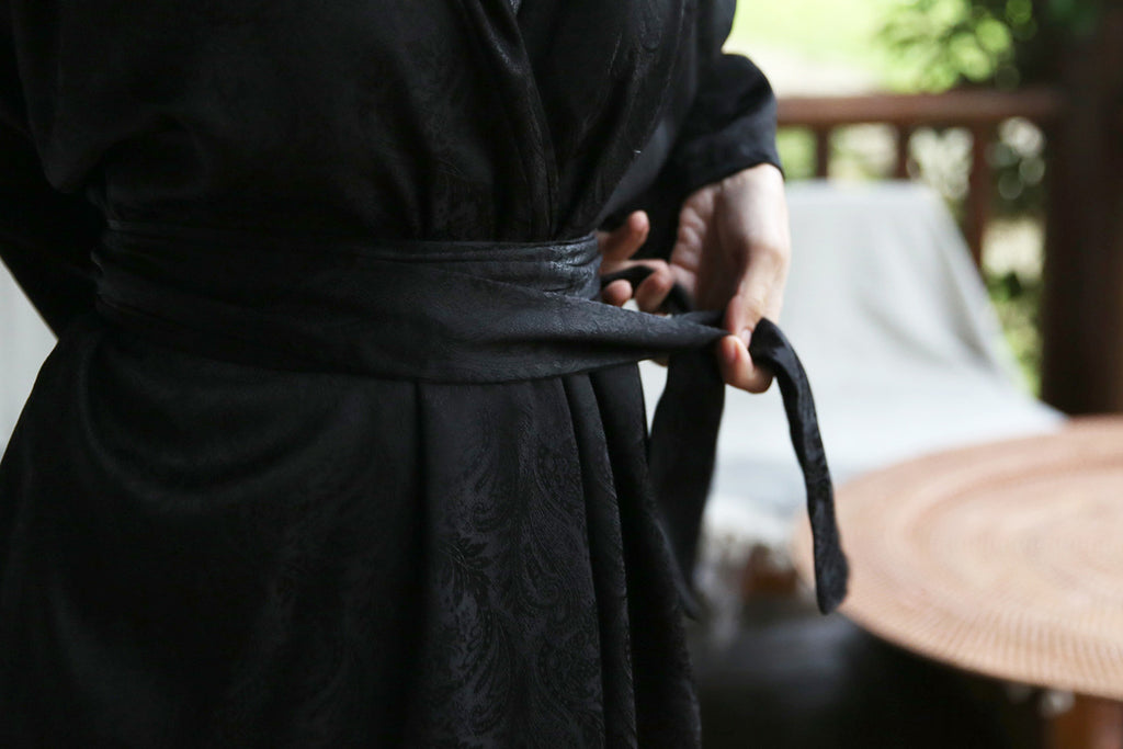 Black Kaftan Robe