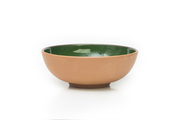 Green Large Terracotta Bowl