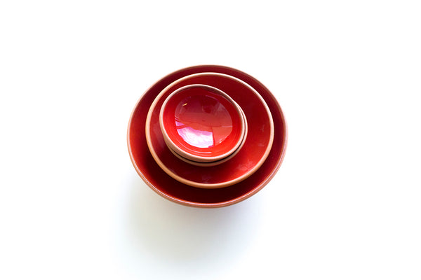 Red Terracotta Bowl Set