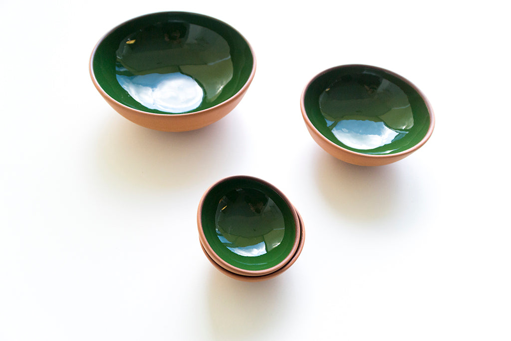 Green Terracotta Bowl Set