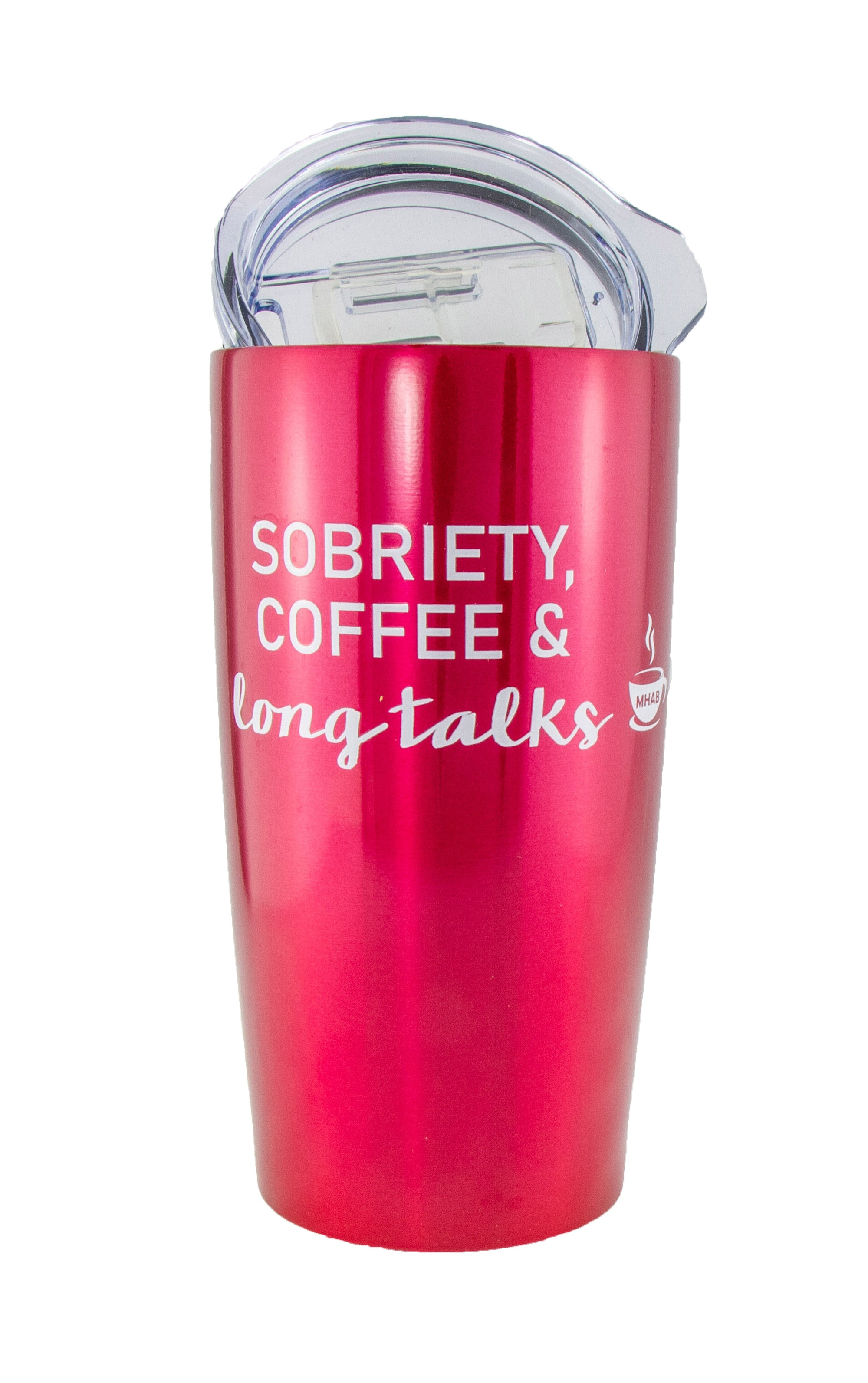 Blue Sobriety Coffee and Long Talks Travel Mug Tumbler