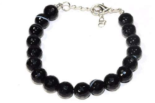 Black Agate Yoga Bracelet - The Trendy Accessories Store