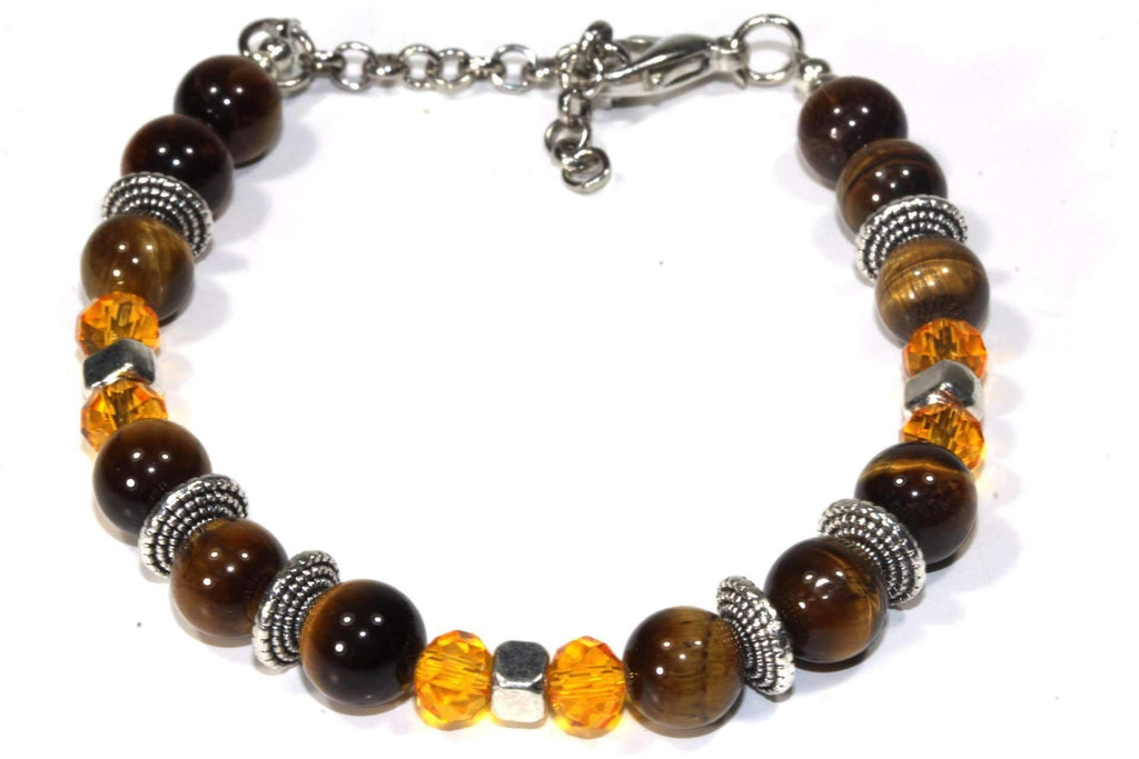 Tigers Eye Stones & Beaded Boho Bracelet - The Trendy Accessories Store