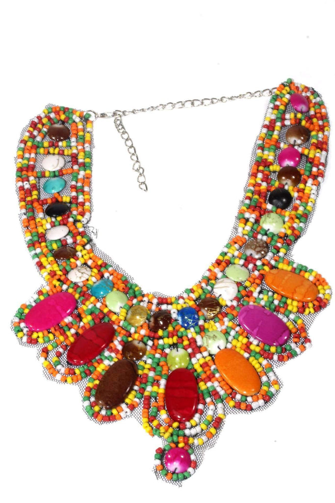 Rio Colorful Bib Style Necklace - The Trendy Accessories Store