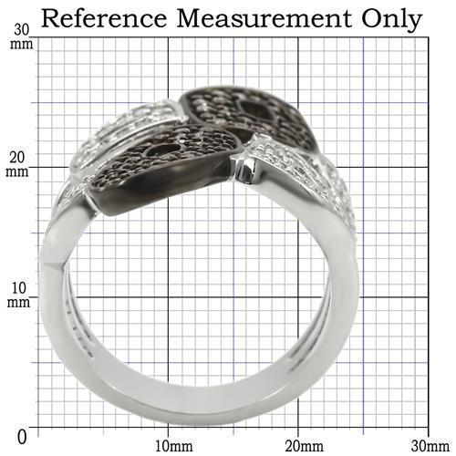 0W295 Rhodium + Ruthenium Brass Ring with AAA - The Trendy Accessories Store