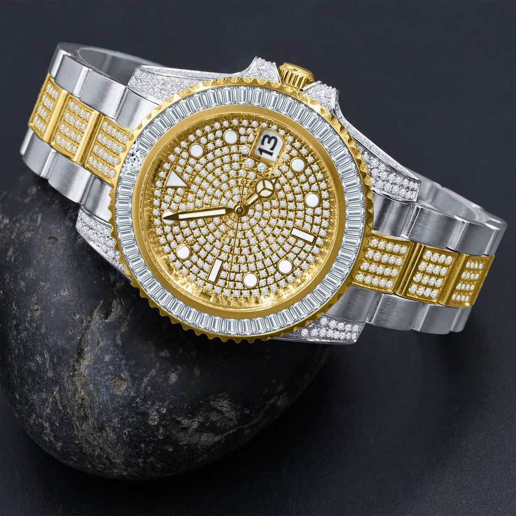 HURRICANE STAINLESS STEEL WATCH WITH GOLD PLATED | 5303842 - The Trendy Accessories Store