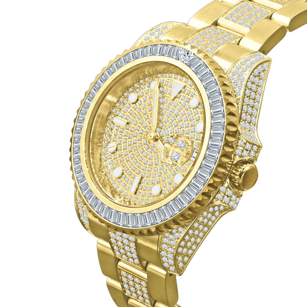 HURRICANE GOLD PLATED STAINLESS STEEL WATCH | 530382 - The Trendy Accessories Store