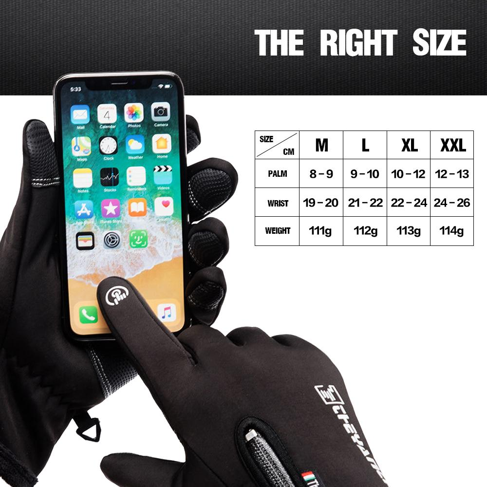 Waterproof and Anti-slip Winter Warm Gloves with Touch Screen - The Trendy Accessories Store