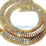 3 Rows of Ice Gold Iced Out Chain - The Trendy Accessories Store