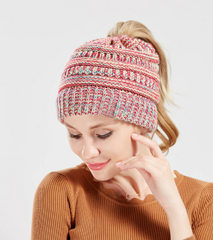 Mixed color knitted wool hat - The Trendy Accessories Store