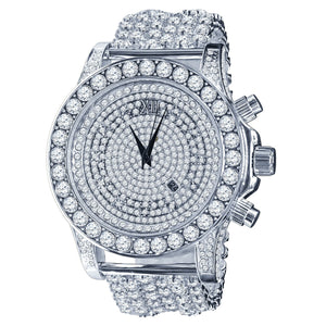 BURNISH CZ ICED OUT WATCH | 5110291 - The Trendy Accessories Store