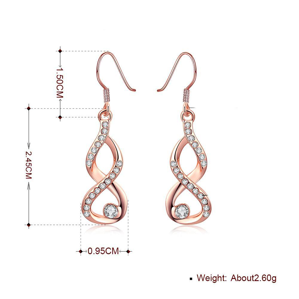 Swarovski Crystal Infinity  Drop Earring in 18K Rose Gold Plated - The Trendy Accessories Store