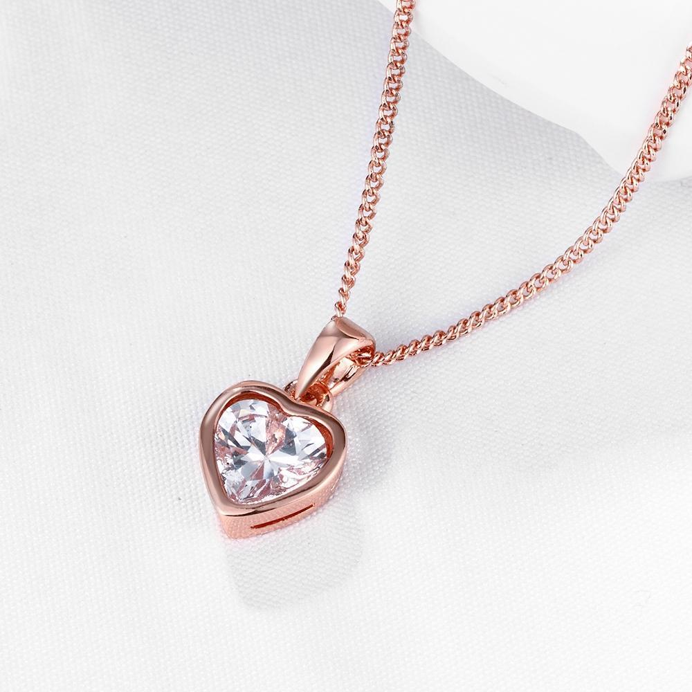 Heart Necklace in 18K Rose Gold Plated - The Trendy Accessories Store