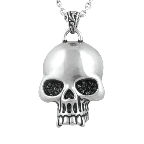 skull glimmer necklace - The Trendy Accessories Store