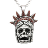 Liberty Skull Necklace - The Trendy Accessories Store