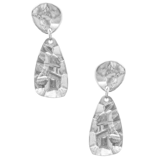 Crinkled Drop Earring - The Trendy Accessories Store