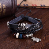 Beachy Leather Bracelet with Stainless Steel - The Trendy Accessories Store