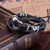 Geniune Leather Bracelet with Stainless Steel Heart - The Trendy Accessories Store