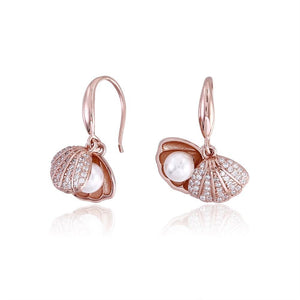 Sterling Silver Earring Plated with Rose Gold - The Trendy Accessories Store