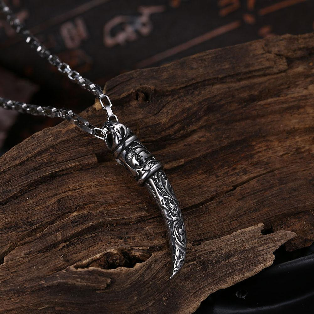 Horn Stainless Steel Pendant Necklace - The Trendy Accessories Store