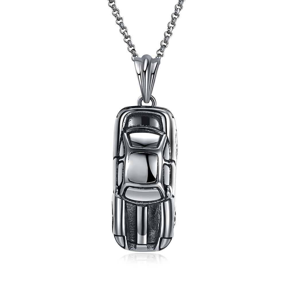 Racecar Stainless Steel Pendant Necklace - The Trendy Accessories Store