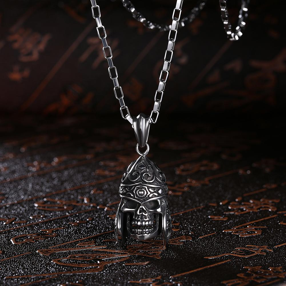 Skull Stainless Steel Pendant Necklace - The Trendy Accessories Store