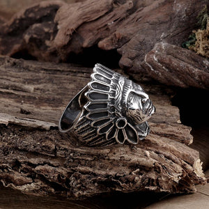 316L Stainless Steel Old Chief Men's Ring - The Trendy Accessories Store