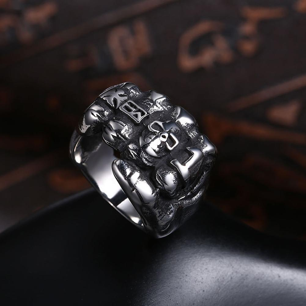 316L Stainless Steel Multi-Mini Skull Large Ring - The Trendy Accessories Store